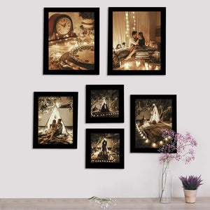 Individual Black Wall Photo Frames Set