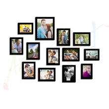 Load image into Gallery viewer, Tremendous Thirteen Set of 13 Black Wall Photo Frame