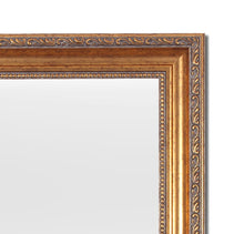 Load image into Gallery viewer, Gold Rectangle Synthetic Royal Decorative Wall Mirror Inner Size 12X16 inch, Outer Size 15X18