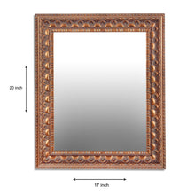 Load image into Gallery viewer, Antique Gold Decorative' Wall Mirror  Inner Size 12X16 Inch, Outer Size  20X17 Inch