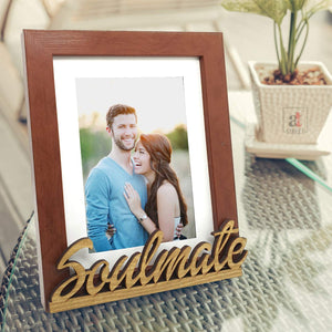Soul Mate Customize Table Photo Frame For Valentine Day Photo Gift / Love Gift