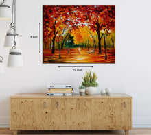 Load image into Gallery viewer, Art Street Alone Amidst Trees Art Print,Landscape Canvas Painting