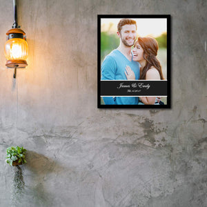 Art Street Personalized Date & Name Display Photo to Canvas Print Wall Art Print -Size 10x 12 Inches