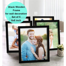 Load image into Gallery viewer, Art Street Pure Wooden Set Of 5 Individual Wall Photo Frame For Home Decor, Size - 6 x 8 Inch