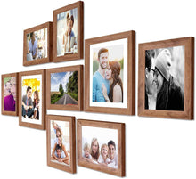 Load image into Gallery viewer, Natural Cave Premium Brown photo frames for wall ,living room ,Gift - set of 9 .