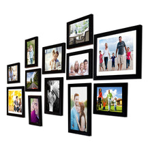 Load image into Gallery viewer, Black Wall Photo Frames  Set of 12