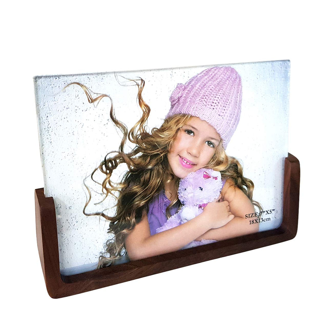 Wooden Personalized Table Photo Frame, Table Picture Frame - 5x7 Inches