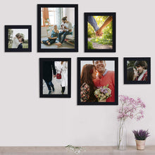 Load image into Gallery viewer, Individual Black Wall Photo Frames Set