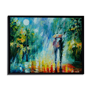Art Street Summer Rain Art Print,Landscape Canvas Painting