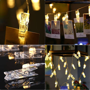 24 LED Photo Clips String Lights Photos Pictures and Home Decoration- (Pack Of -2)