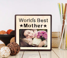 Load image into Gallery viewer, Wood Engraved Personalized Photo Frame, Picture Frame (World's Best Sister -Multi)