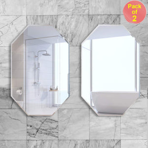 Art Street Bathroom Mirrors Wall Mounted, Modern Frameless Mirror for Bathroom Room Hanging Horizontal or Vertical -15.5 x 23 Inches