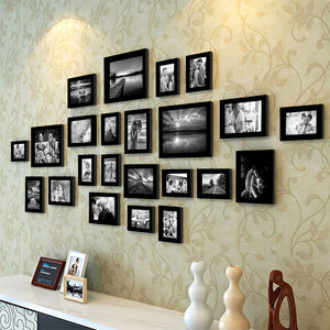 Black Wall Photo Frame Set Of 23