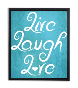 Live Laugh Love Framed Canvas