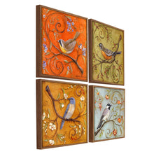 Load image into Gallery viewer, Colorful Bird Theme Set of 4 Framed Canvas