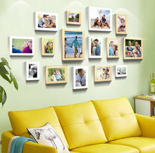 Load image into Gallery viewer, Sumptuous Memories - Set of 15 Individual Black Fiber Wood Photo Frames