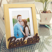 Load image into Gallery viewer, Best Wife Customize Table Photo Frame For Valentine Day Photo Gift / Love Gift