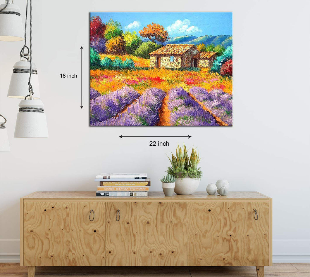 Relish The Nature Art Print,Landscape Canvas Painting