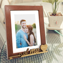 Load image into Gallery viewer, Key Of My Heart Customize Table Photo Frame For Valentine Day Photo Gift / Love Gift