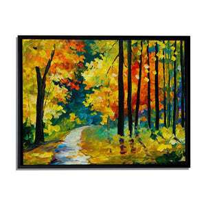 Art Street Abstract Fall Art Print,Landscape Canvas Painting