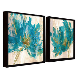 Floral Art Theme Set of 2 Framed Canvas