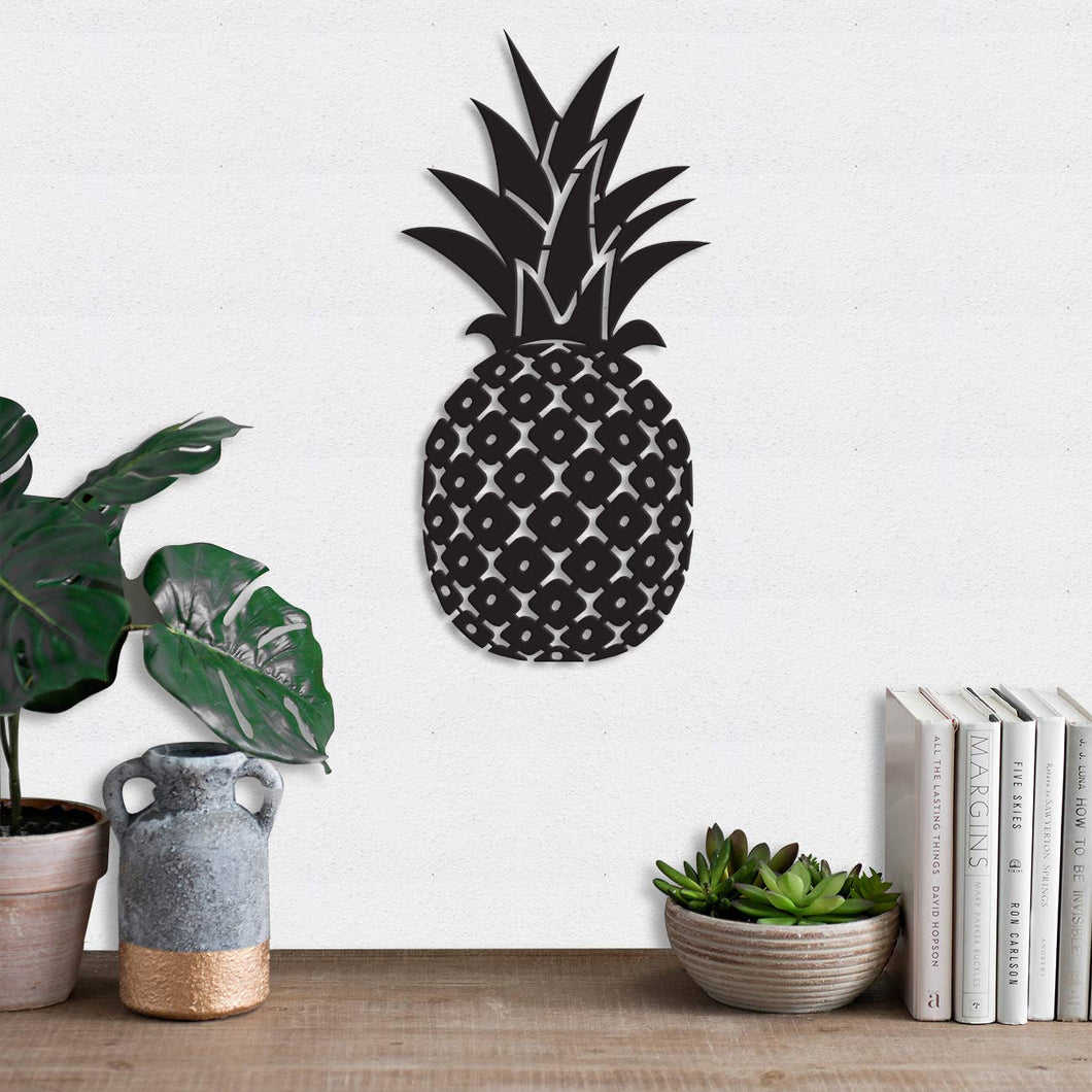 Art Street Pineapple MDF Plaque Painted Cutout Ready to Hang Home Décor Wall Art
