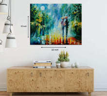 Load image into Gallery viewer, Art Street Summer Rain Art Print,Landscape Canvas Painting