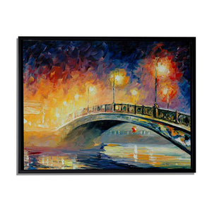 Art Street Rain in The Dark Art Print,Landscape Canvas Painting