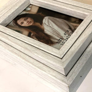 MDF Wooden Table Top Box Photo Frame