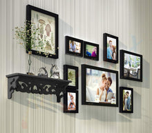 Load image into Gallery viewer, Radiance Set of 9 Black Wall Photo Frame