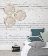 Load image into Gallery viewer, Art Street -Set of 3 Copper Mirror,Decorative in Round Shape (10 x 10 Inchs)