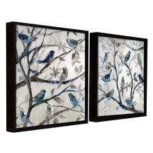 Load image into Gallery viewer, Bird Theme Set of 2 Framed Canvas