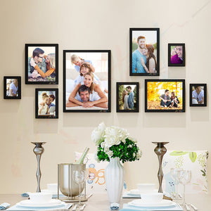 Fabled 9 Individual Black Wall Photo Frame