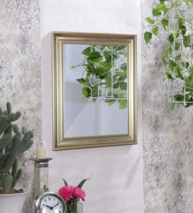 Decorative Wall Mirror Antique Silver Inner Size 12 x 18 inch, Outer Size 16 x 22 inch