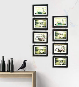 Impressive Drop Chain Synthetic Frame Set of 8 Photo Frames