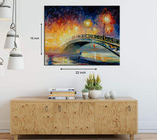 Load image into Gallery viewer, Art Street Rain in The Dark Art Print,Landscape Canvas Painting