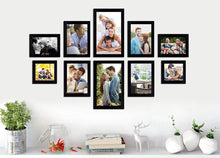 Load image into Gallery viewer, Black Wall Photo Frames Set of 10