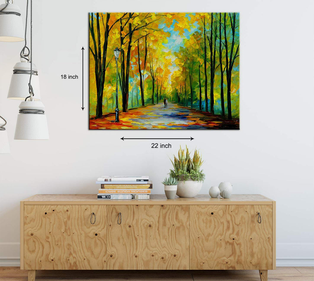 Art Street A Walk by The Avenue Art Print,Landscape Canvas Painting