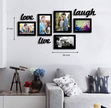 Load image into Gallery viewer, Live-Love-Laugh Black Individual Wall Photo Frame With MDF Plaque