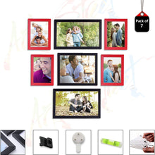 Load image into Gallery viewer, Individual Red & Black Wall Photo Frames Wall Decor Set