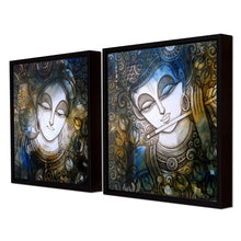 Load image into Gallery viewer, Sri Krishna Theme Framed Canvas Painting