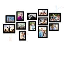 Load image into Gallery viewer, Simple Set of 12 Individual Black Wall Photo Frame