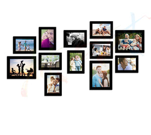 Simple Set of 12 Individual Black Wall Photo Frame