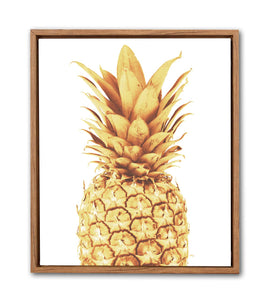 Gold Pineapple Framed Canvas