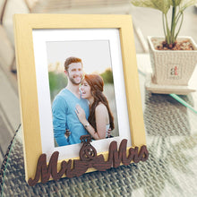 Load image into Gallery viewer, MR & MRS Customize Table Photo Frame For Valentine Day Photo Gift / Love Gift