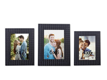 Load image into Gallery viewer, Designer Black Bar Wall And Table Photo Frame Set