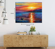 Load image into Gallery viewer, Art Street Calm Sunset  Art Print,Landscape Canvas Painting