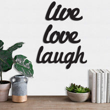Load image into Gallery viewer, Art Street Live Love Laugh MDF Plaque Painted Cutout Ready to Hang Home Décor Wall Art