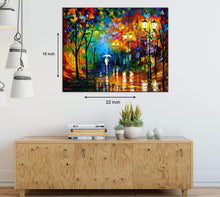Load image into Gallery viewer, Art Street A Walk by The Avenue Art Print,Landscape Canvas Painting