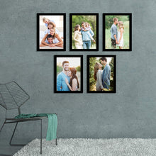 Load image into Gallery viewer, Art Street 5 Individual Black Wall Photo Frames / Wall Decor Set